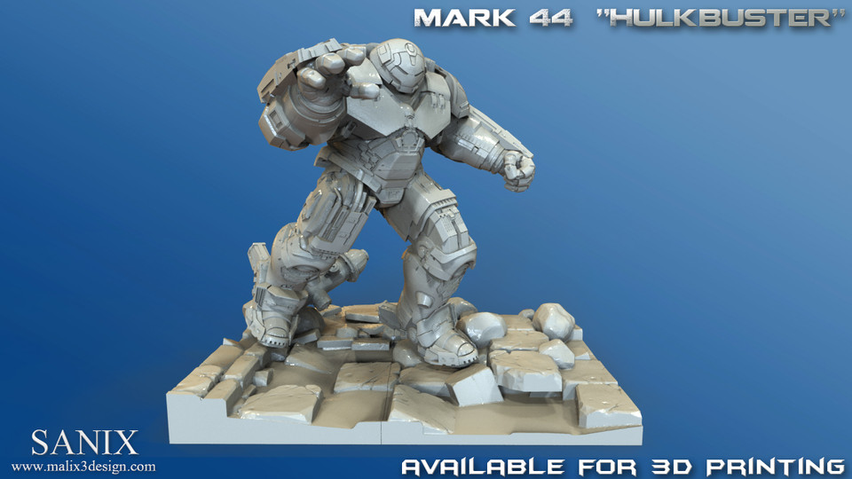 Avengers Scene-Ironman Hulkbuster 3d Printable model | 3D CAD Model