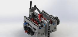 Lego 6 speed gearbox