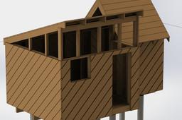 Split Roof Utility Shed Frame