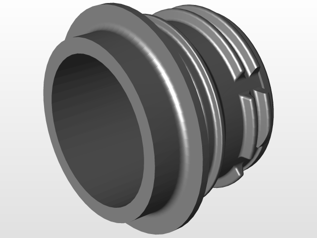 Water Bottle cap and neck - PCO 1881 | 3D CAD Model