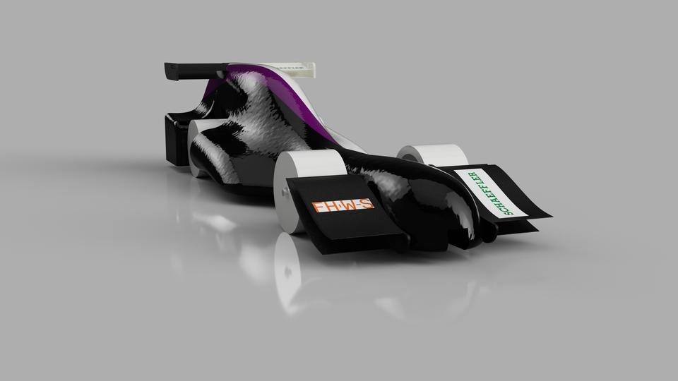 F1 In Schools Car Assembly 2018 3d Cad Model Library Grabcad