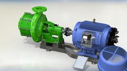 Moteur pompe centrifuge Electrique multicellulaire.
