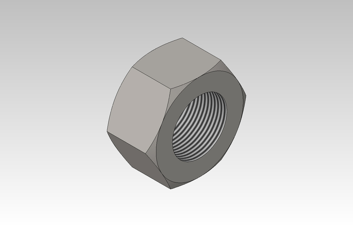 how to add m4 nut solidworks
