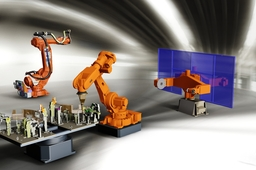 Robot with weldingstation