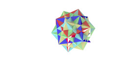 Five cubes in a dodecahedron