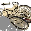 Karl Benz motorcar patent, 1886.