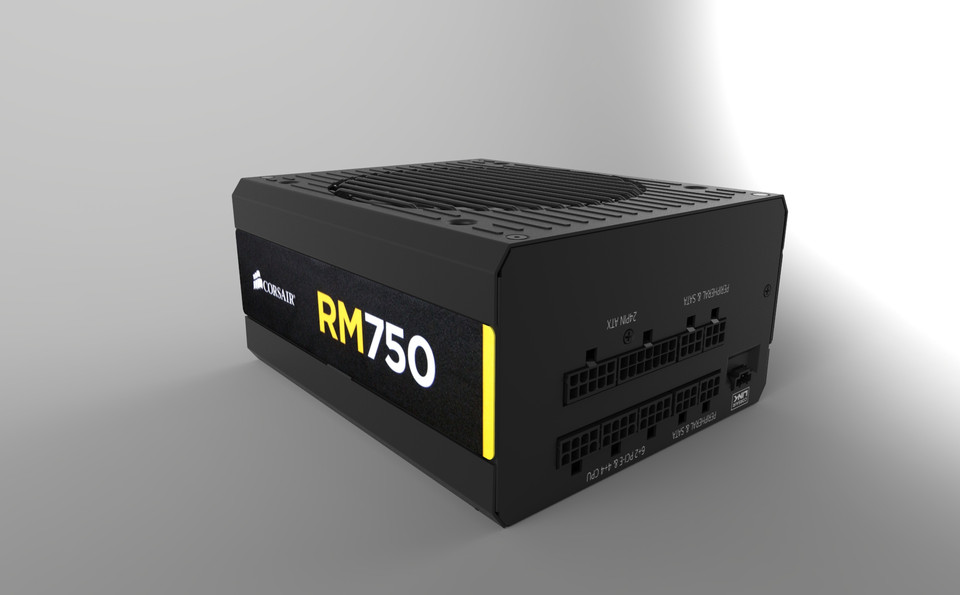 Corsair RM750 PSU | 3D CAD Model Library | GrabCAD