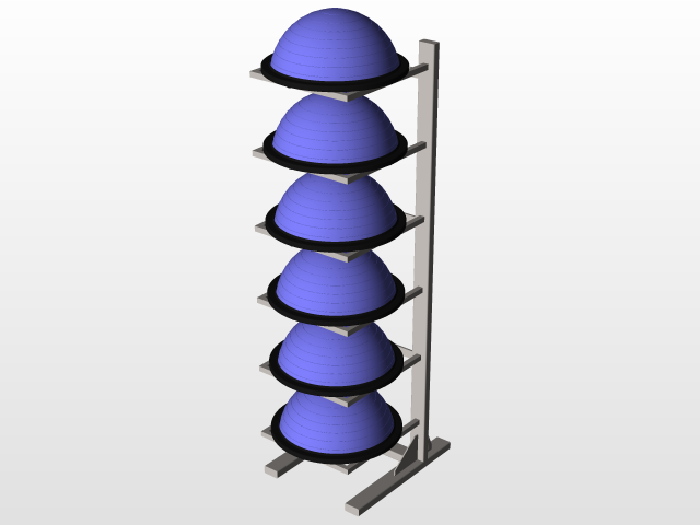 Bosu Ball Rack 3d Cad Model Library Grabcad