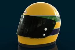 Ayrton Senna Bell Star Helmet