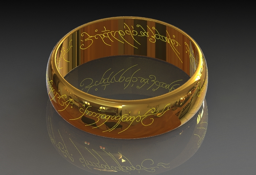 Sauron S Ring From Lord Of The Rings 3d Cad Model