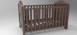 Convertible cot bed/ toddler assembly