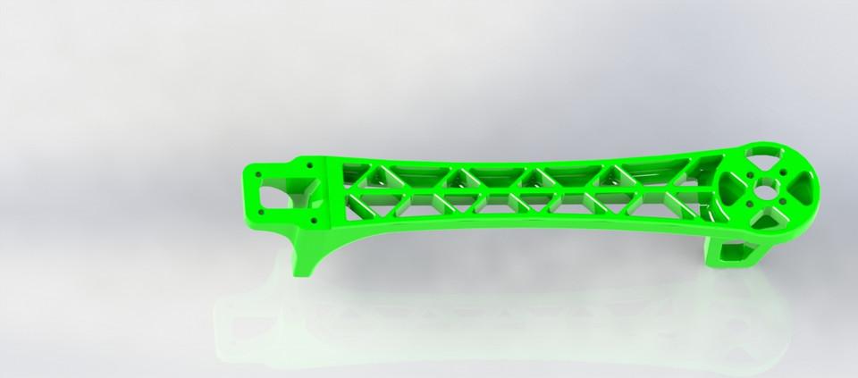 DJI F450/F550 qoadrotor arm | 3D CAD Model Library