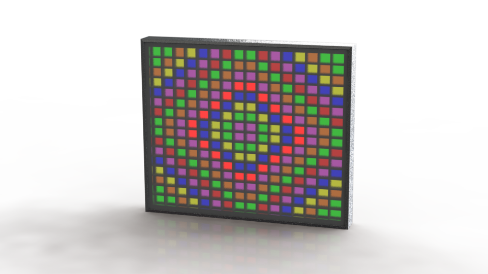 LED Matrix - WS2812B | 3D CAD Model Library | GrabCAD