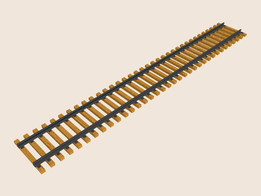 Railroad track standard 4 feet 6 inch gauge 60 foot section circa 1953