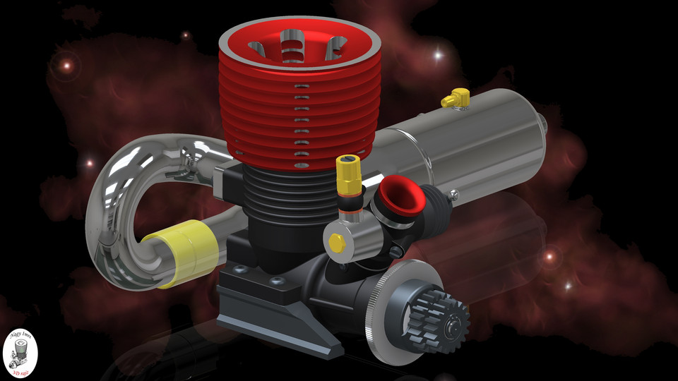 RC Car engine | 3D CAD Model Library | GrabCAD
