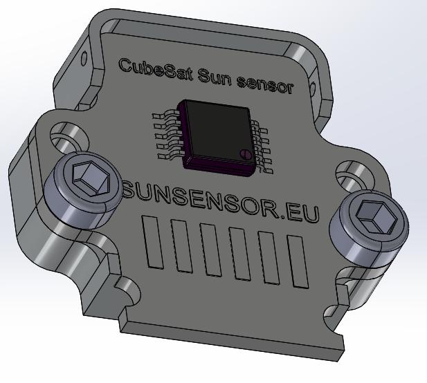 Sun sensor for Cubesat | 3D CAD Model Library | GrabCAD