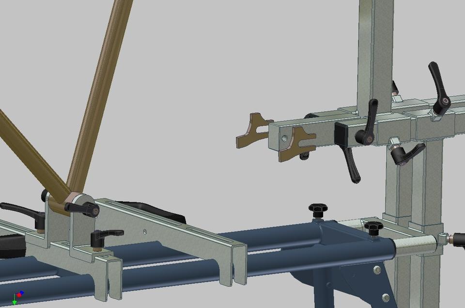 bicycle frame jig stlstep iges 3d cad model grabcad