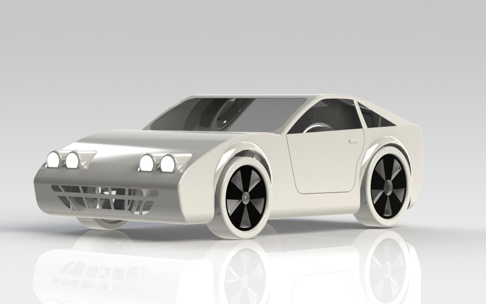 Tutorial A Car Simple For Beginners Solidworks 3d Cad Model