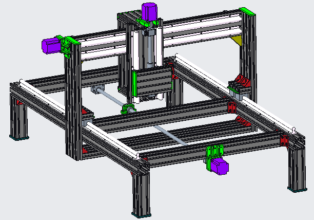 Free CNC mill plans (also wide format 3D printer gantry design)