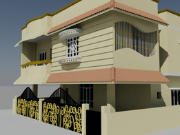 exterior design using by autocad
