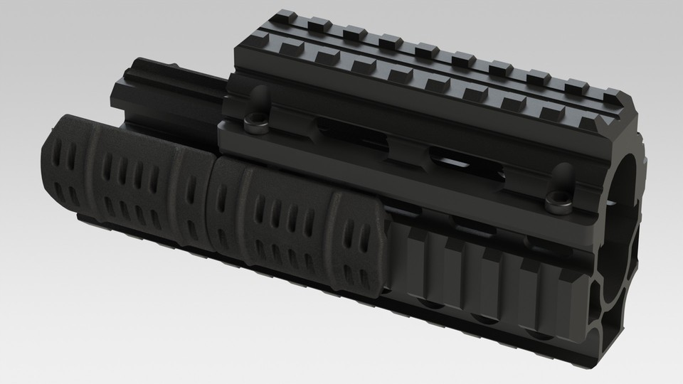 AK Railed Handguard | 3D CAD Model Library | GrabCAD