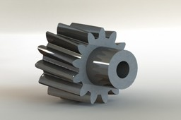 Helical gear using flex feature