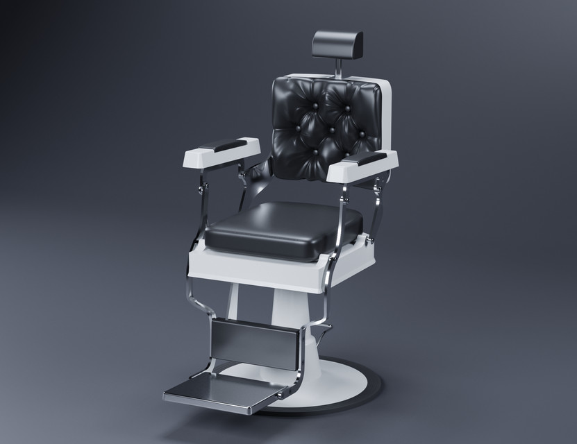 Barber Chair | 3D CAD Model Library | GrabCAD