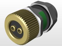 Fiber Optic-RPO-M-12-Wall-Bushing-POF-94KH1050CM000M120-01