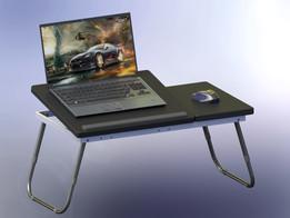 Portable adjustable laptop table