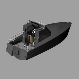 Small aluminum boat