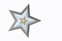 star badge unrendered and rendered