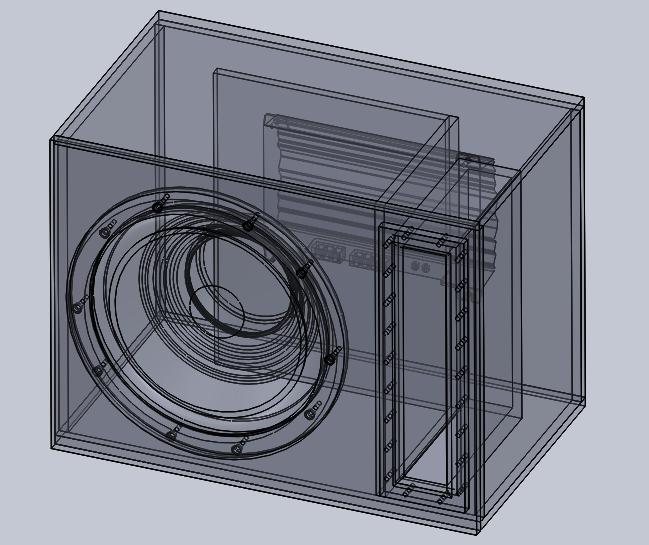 12 Inch Ported Sub-woofer Box Design | 3D CAD Model Library | GrabCAD