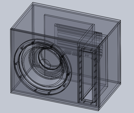 18 Inch Subwoofer Enclosure Plans http://grabcad.com/library/12-inch-ported-sub-woofer-box-design