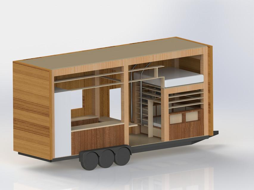 Tiny House | 3D CAD Model Liry | GrabCAD on tiny house 3d model, tiny house sketch up, tiny house fad, tiny house blueprints,