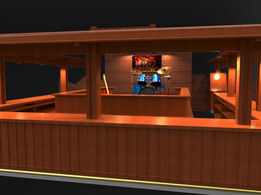 Bar and stage