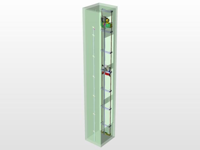 ELEVATOR MRL LIFT   3D CAD Model Library   GrabCAD