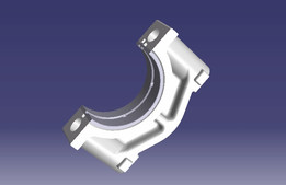 BMW M10 main bearing cap assembly