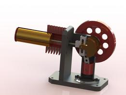 Horizontal Stirling Engine