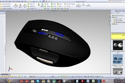 How to model an Asus r.o.g. mouse on Solidworks?