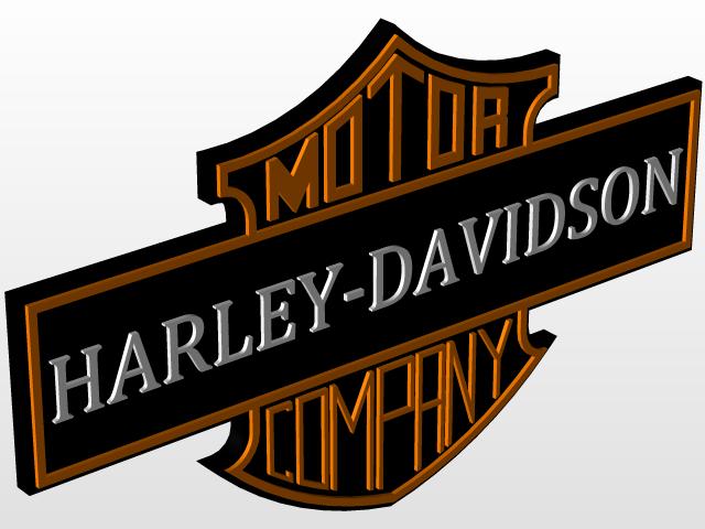 harley davidson logo badge 3d cad model library grabcad