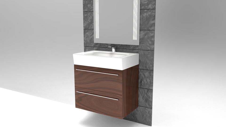 Bathroom Sinks Revit bathroom sink assembly - stl,step / iges,ironcad - 3d cad model