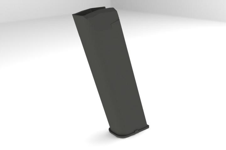 Glock 17 Plastic Magazine case, 9mm, 18 rounds   3D CAD