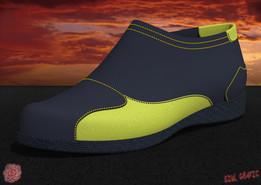 Diseño de calzado deportivo para hombre.