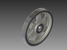 Gear m=20 mm, z=83