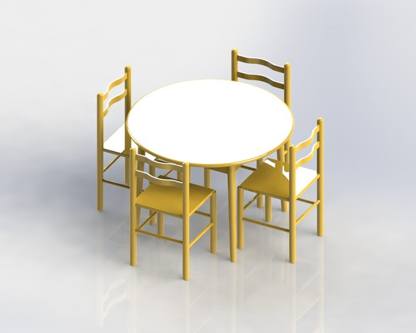 Table cuisine solidworks 3d cad model grabcad for Cuisine 3d solidworks