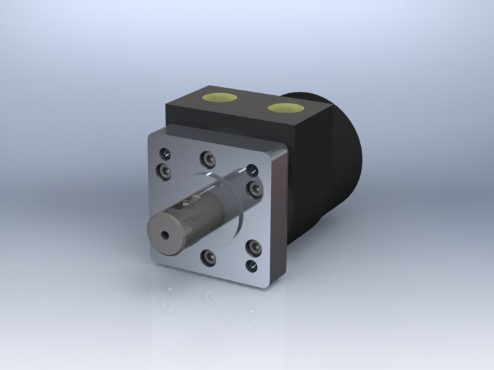 Hydraulic motor | 3D CAD Model Library | GrabCAD