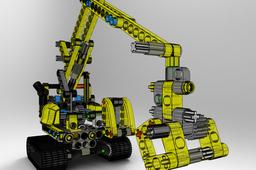 excavator toon lego technic
