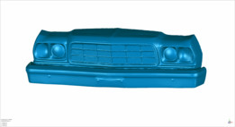 3D Scan Ford Ranchero Front 1973