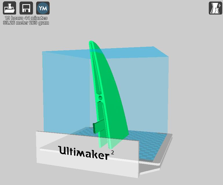 Snap-Fit SUP paddleboard for 3D printing | 3D CAD Model
