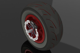 tyre with disc